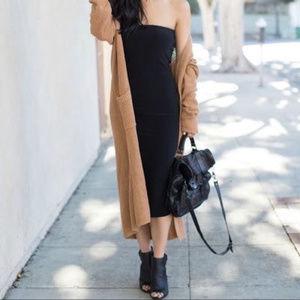 Gap Black Tube Bodycon Strapless Dress